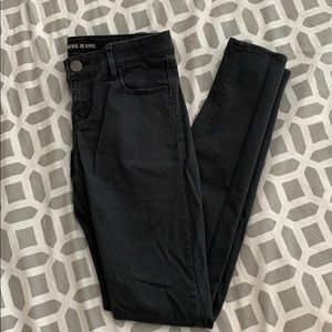 Charcoal Grey Low Rise Express Jeans (Size 2)